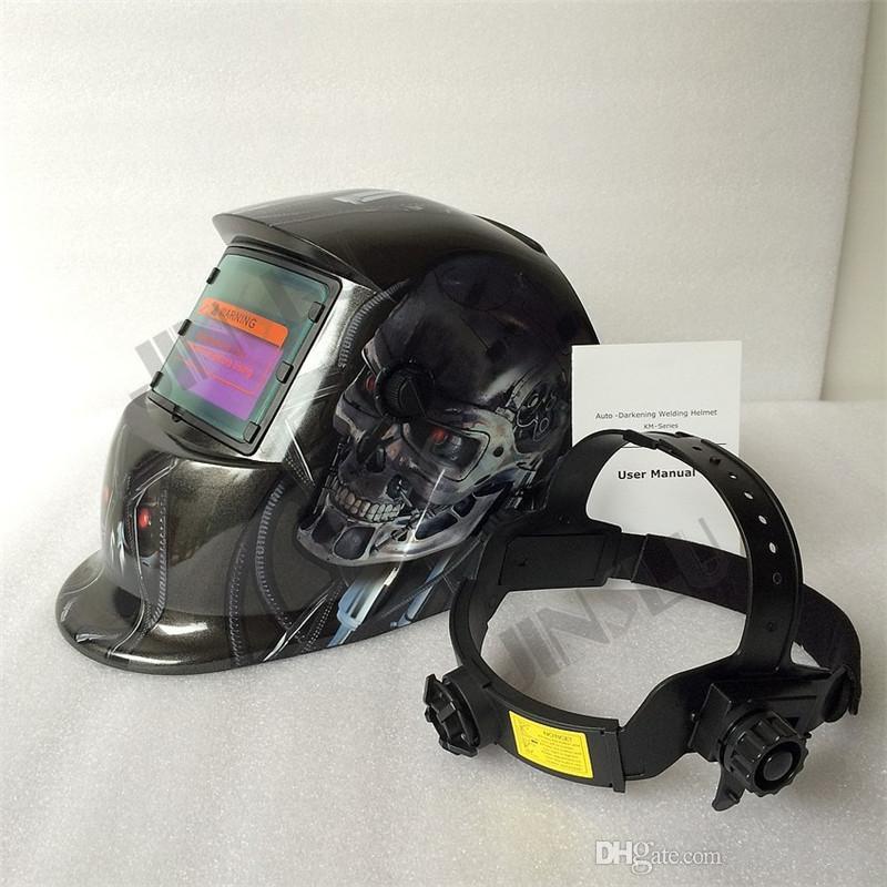Ferramentas de soldagem Stepless ajustar escurecimento Solar Auto TIG MIG MAG MMA soldagem capacetes / máscara facial / máscara de solda elétrica / soldador cap