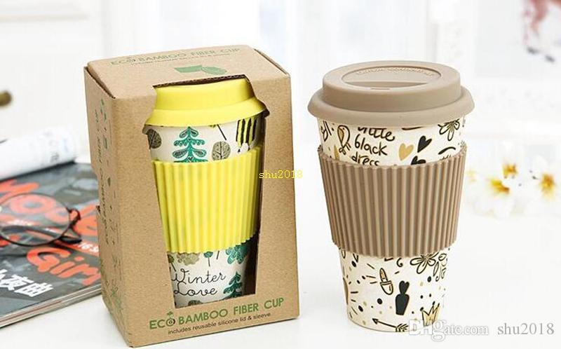Новинка бамбуковое волокно порошок кружки кофейные чашки Молоко питьевой Кубок путешествия подарок Эко-Бесплатная доставка