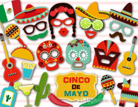 29PCS/lot Photo Booth Props Mexico Facebook Wedding Party Birthday Funny Mask Photobooth Birthday Supplies