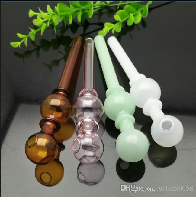 Coloré à double bulle de verre en verre de cire à eau directe meuleuse à ongles titane, verre à bulles pour les couleurs de mélange de pipe