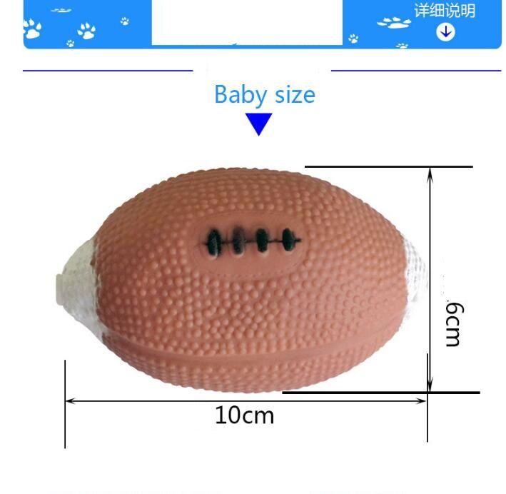 giocattolo da compagnia palla da rugby giocattolo cane di gomma stridula all'ingrosso molor denti palle di formazione spremere morso di gomma giocattolo cane di grandi dimensioni