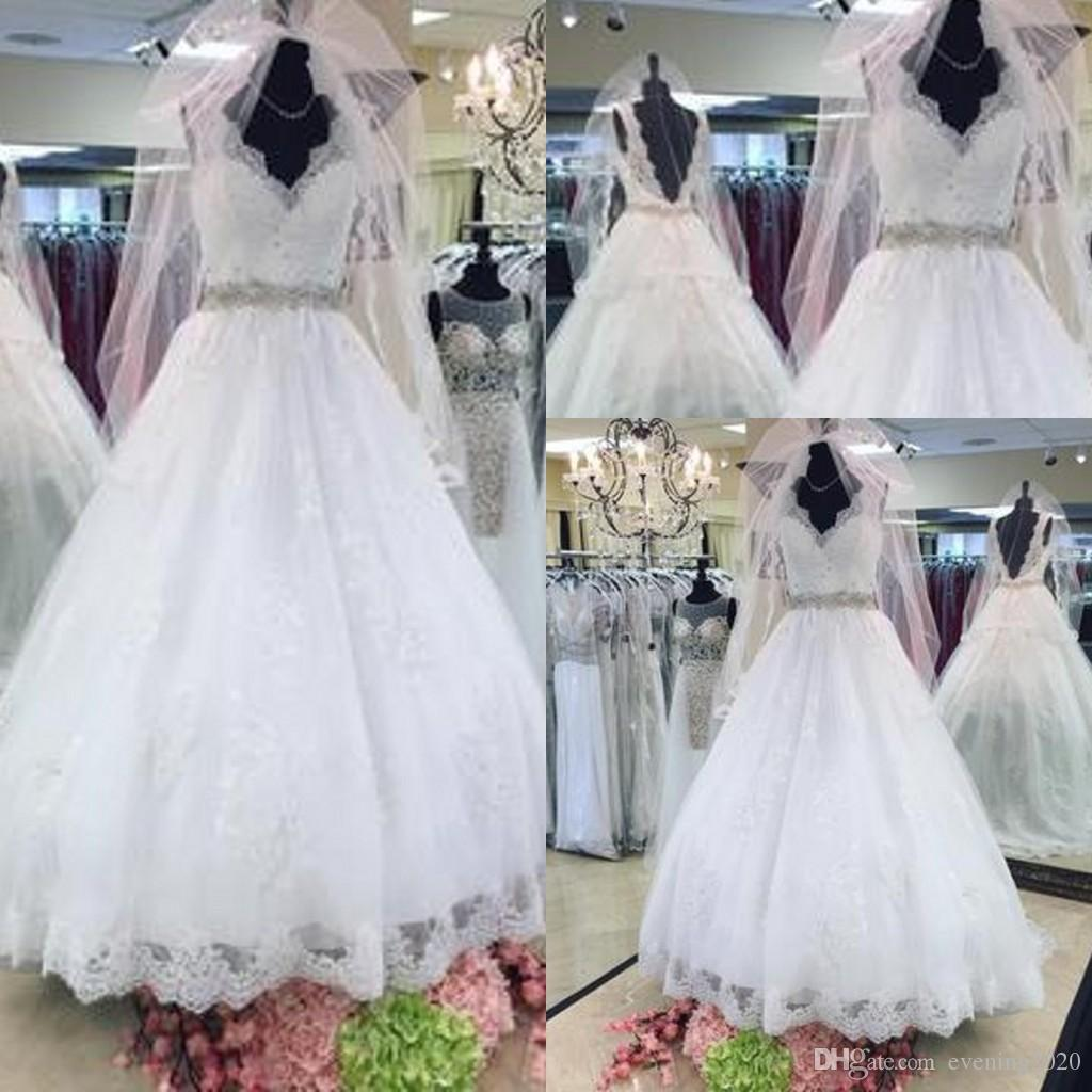 discount fresh selling wedding dresses special occasion charming luxury  vintage v neck tulle sleeveless lace appliques wedding gown silver wedding