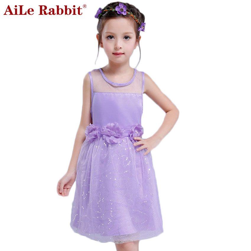 Kids Infant Girls Flower Dress Children Bridesmaid Toddler Elegant Dress Pageant Wedding Bridal Solid Tutu Dress
