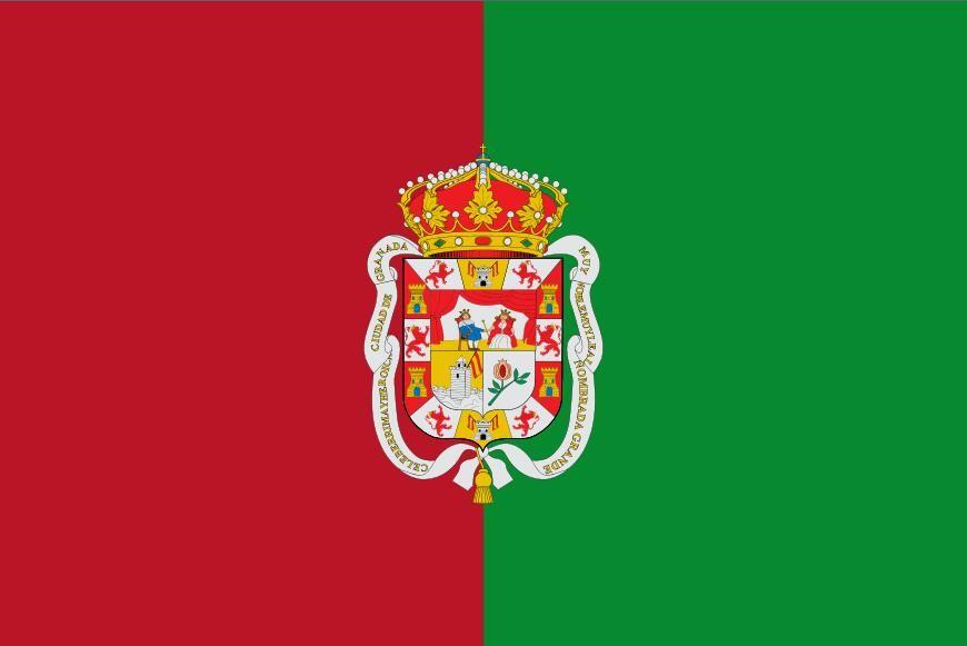 Flaga Hiszpanii Bandera de Granada 3ft x 5ft poliester banner latający 150 * 90 cm niestandardowa flaga na zewnątrz