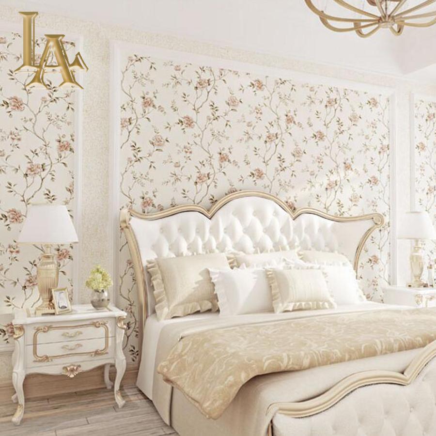 European Pastoral Floral Wallpaper For Walls Bedroom Living Room