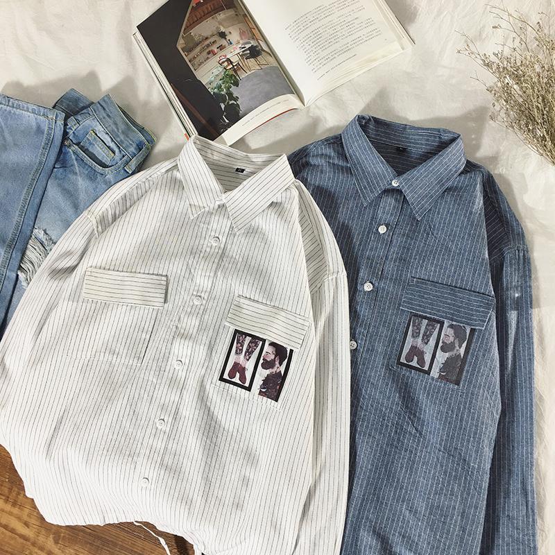 DEKUSI осень новый шаблон мужской статьи с длинным рукавом мужчины полоса рубашка хлопок camisa camiseta masculina сорочка homme повседневная топы
