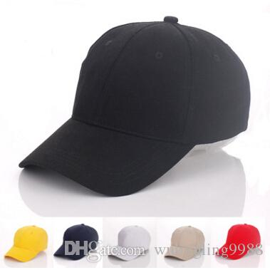 6 Color Designer Pianura in cotone Berretto da baseball personalizzato Berretti regolabili Strackback per adulti Mens Wovens Cappelli sportivi curvi Blank Solid Golf Visor Sun Visor
