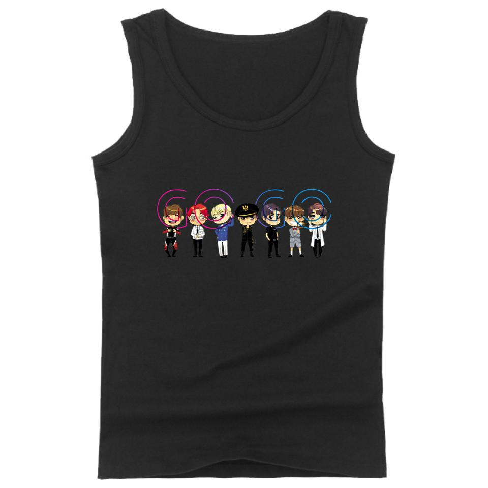 K-pop China BTS GOGO Tank Top Uomo / Donna Cool Summer Workout Stampa Tank Top Casual Style Vest Vestiti Plus Size 4XL