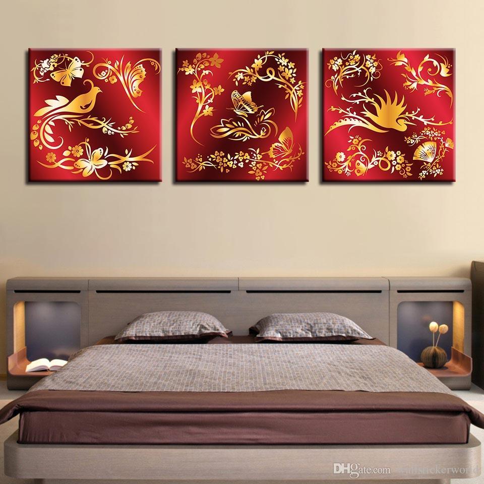 Acquista Quadro Su Tela Quadro Quadri Soggiorno Decor 3 Pezzi Farfalla  Uccelli Fiori Swan Dipinti HD Stampe Pattern Poster A $33.28 Dal ...