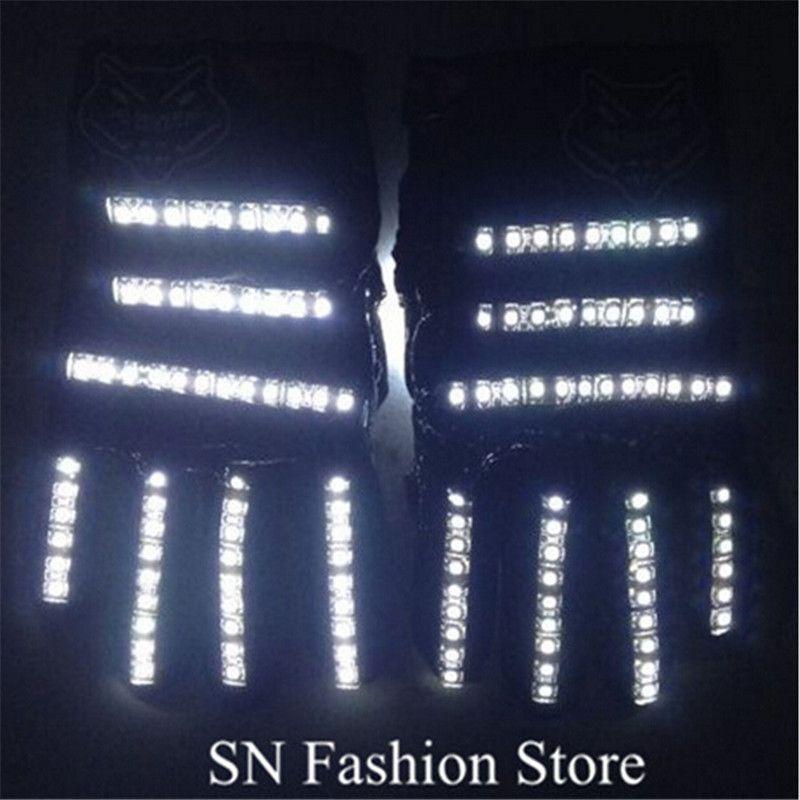 ST001 Unisex LED light gloves 1pairs ballroom dance led costumes stage costumes dj disco gloves nightclub bar singer wears show performance