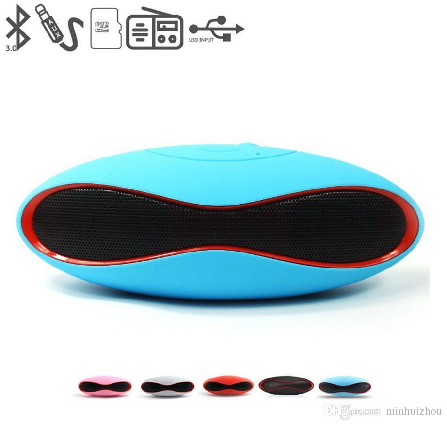 HIFI X-6 MINI 사운드 럭비 풋볼 무선 블루투스 스피커 AUX USB 휴대용 오디오 플레이어 전화 용 음악 컴퓨터 서브 우퍼