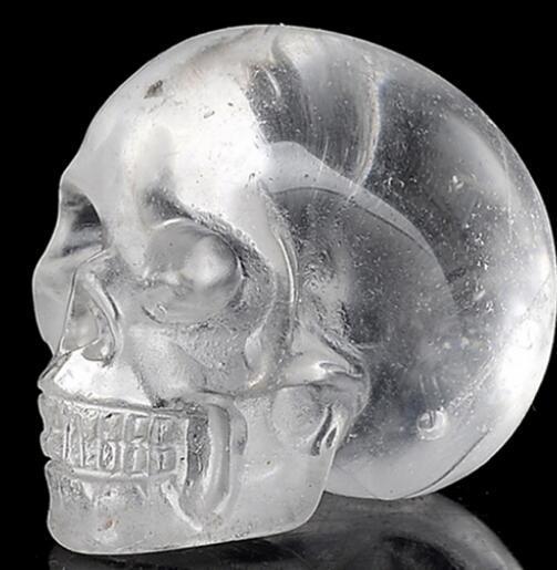 Doğal Temizle Kuvars Kristal Kafatası şifa reiki oyma