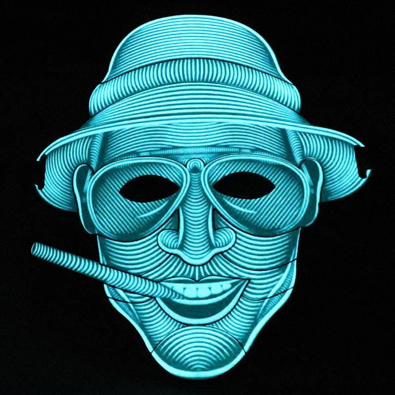 Luminous mask, cold light, voice mask, Halloween street dance bar, KTV Festival ball LED Mask creative