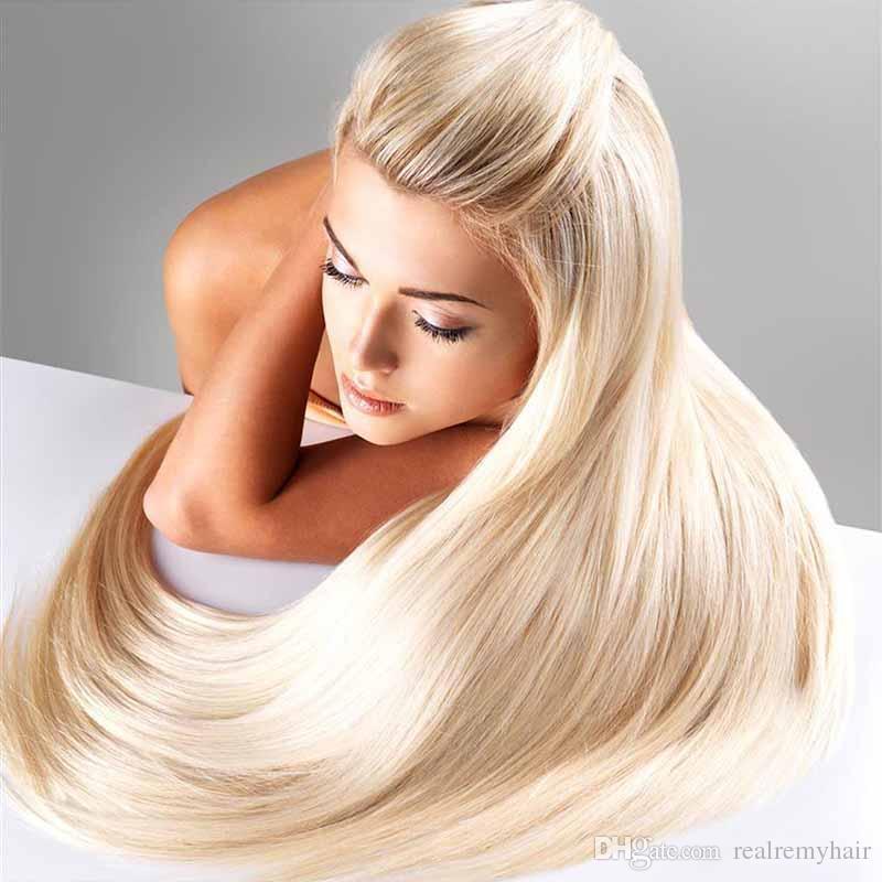 613 Blonde Virgin Hair 4Pcs Lot Brazilian Virgin Straight Human Hair Weave Cheap Blonde Brazilian Hair Weave Bundles Passion Products