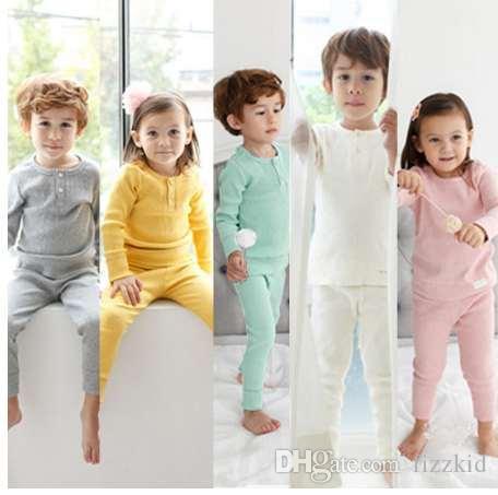 Pyjama Sets Frühling Kinder Kleidung Baumwolle Babykleidung Frühling Babykleidung Baby Nachtwäsche Säugling