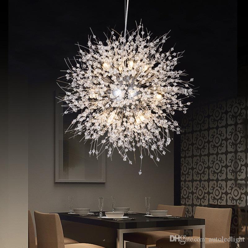 Modern Dandelion LED Ceiling Light Crystal Chandeliers Lighting Globe Ball  Pendant Lamp For Dining Room Bedroom Living Room Lighting Fixture Ceiling  ...