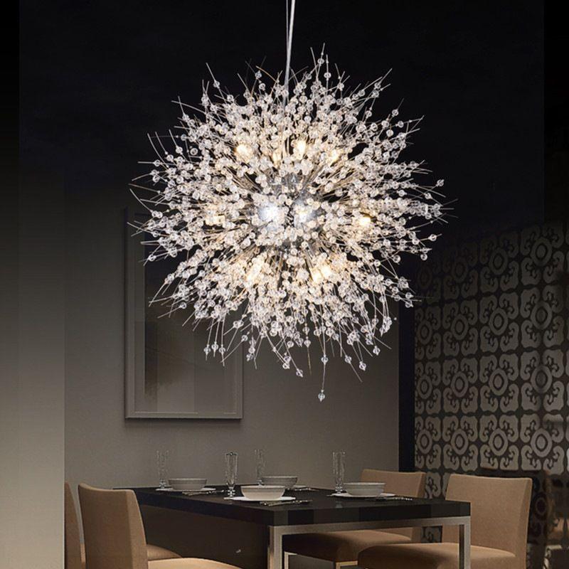 Modern Pendant Lamps LED Ceiling Light Crystal Chandeliers Lighting Globe Ball Lamp for Dining Bedroom Living Room Fixture
