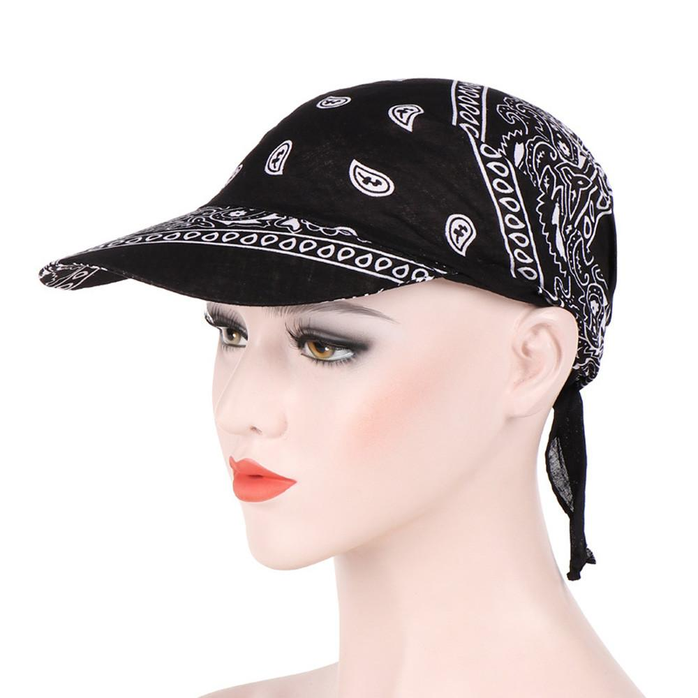 Fashion Womens Visor Hat Sunhat Printed Head Scarf Keep Warm Cap Topee sun hats for women chapeau femme