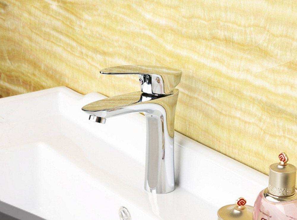 New Style Brass Deck Mount Basin Bathroom Faucets Tap Vanity Vessel Sinks Mixer Faucet