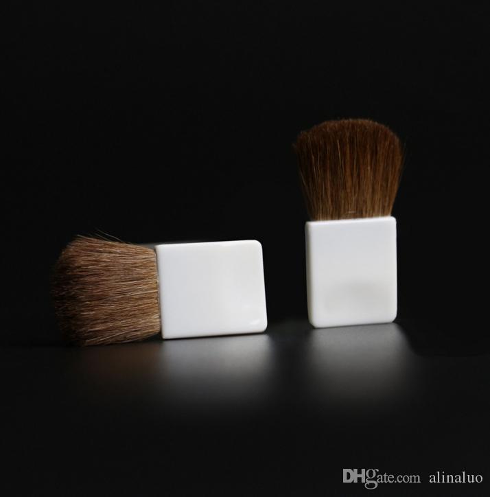 New Flat Make Up Brush Face Cheeks Blend Makeup Cosmetic Brusher Small Horse Hair Makeup Brushes Foundation Brush Black / White