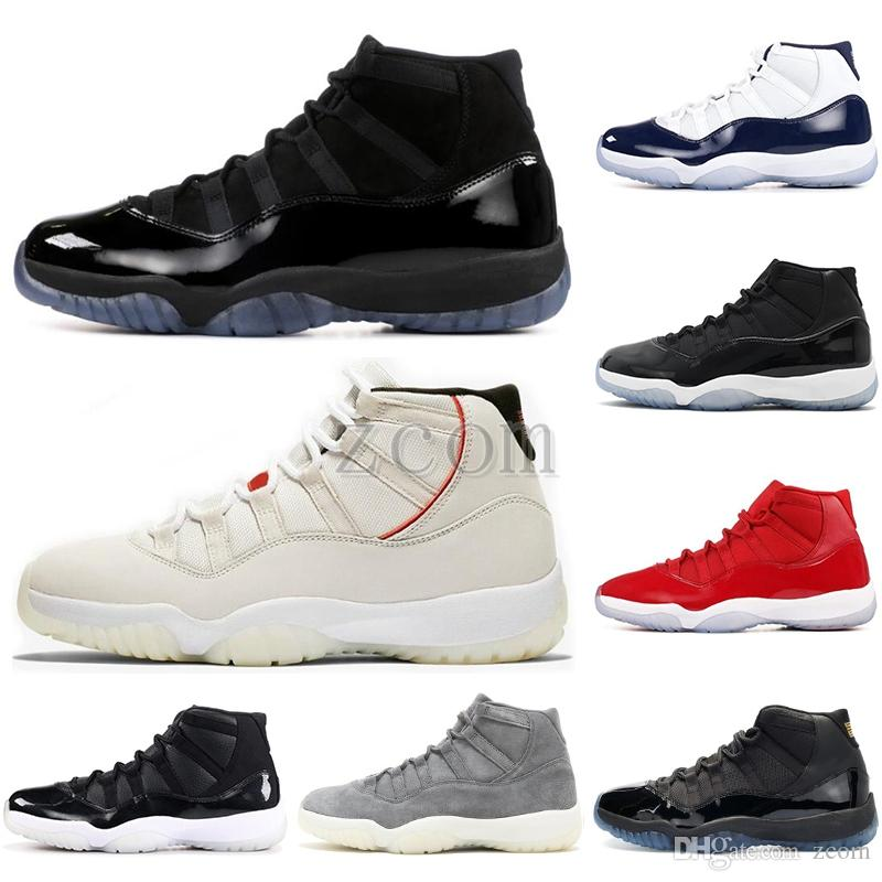 11s Mens Basketball Shoes Platinum Tint CAP AND GOWN concord 45 ROSE GOLD 11 Mens Women Sneakers Athletic Cheap Sports Size 5.5-13