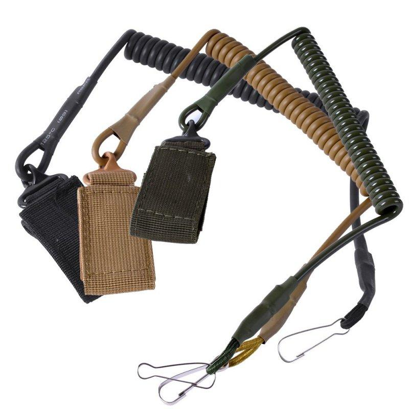 Airsoft Tactical Two Point Pistol Handgun Spring Lanyard Sling Quick Release Shooting Hunting Strap Combat Gear Accessories