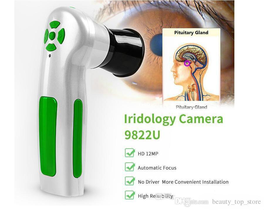 New Iriscope digitale iridologia macchina di prova occhio della macchina fotografica 12.0MP iris scanner analizzatore di trasporto DHL professionale