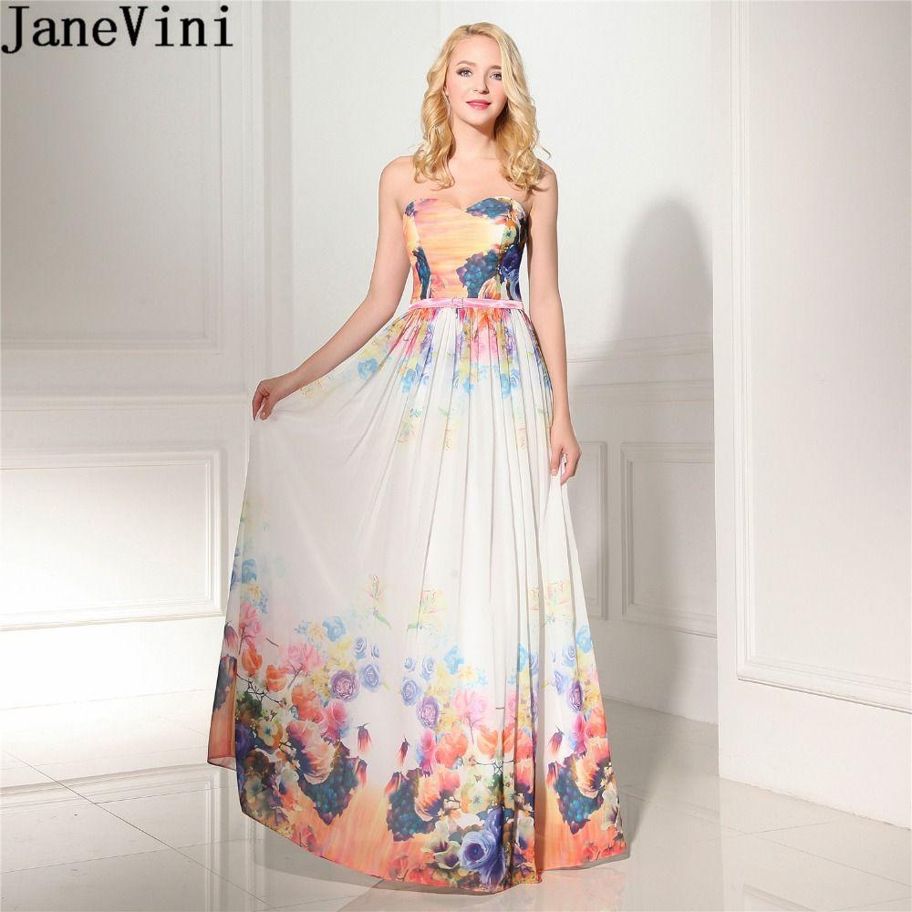 Großhandel Großhandel 12 Bunte Damen Hochzeit Kleid Plus Size Sweetheart  Floral Brautjungfer Kleider Lange Formale Kleid Stock Länge Von