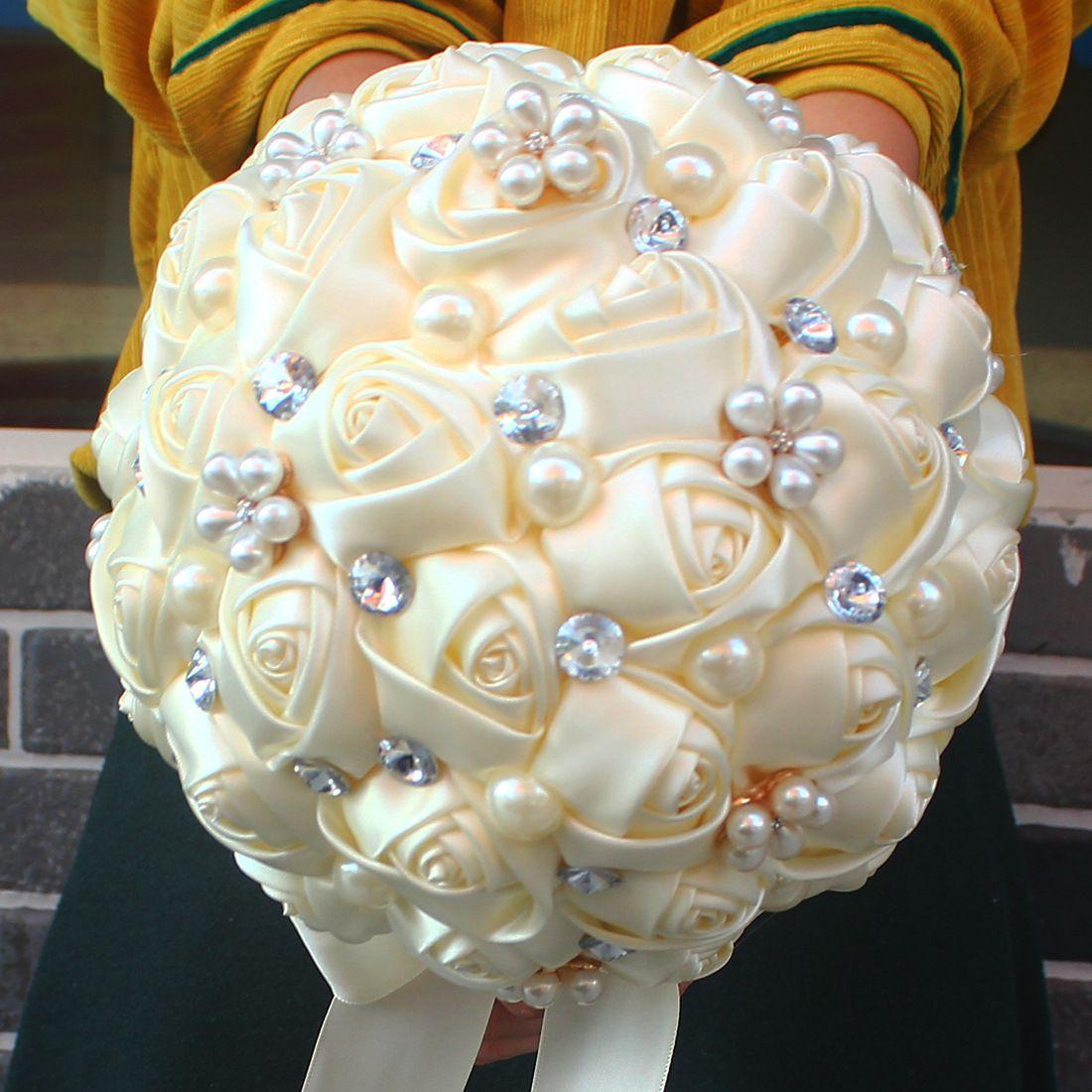 Bouquet Sposa Con Perle.Acquista Bouquet Da Sposa Matrimoni Nuziali Con Perle In Cristallo