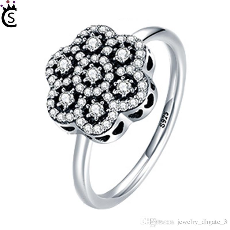 anello pandora fiore nero