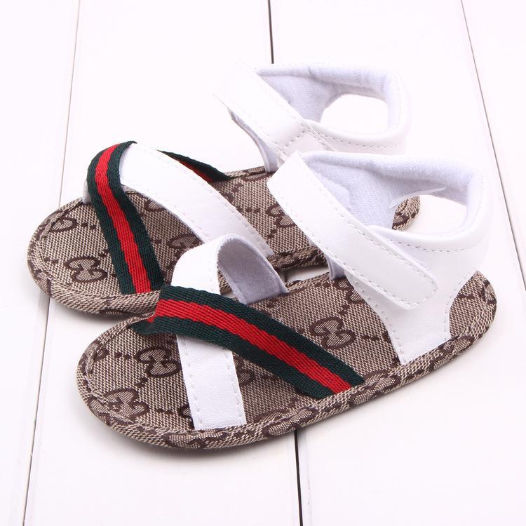 Chaussures bébé Sandales d'été Filles Garçons Mocassins tout-petits en cuir Chaussures bébé Chaussures Première Walkers