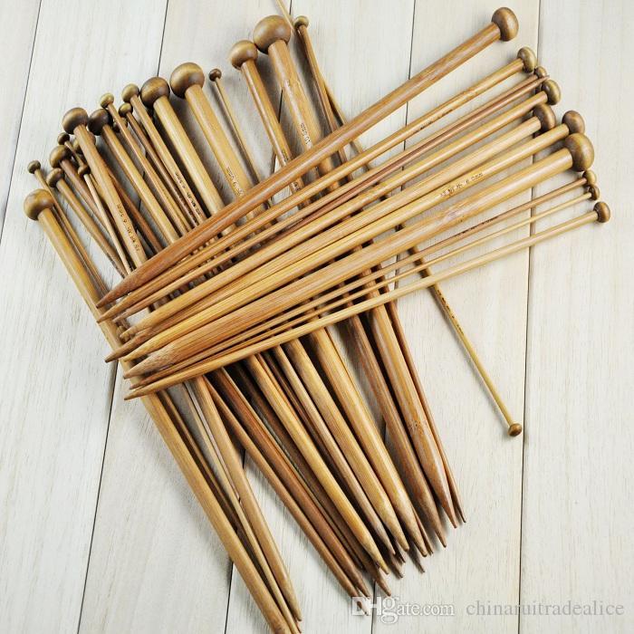 36pcs 25/36cm Bamboo Knitting Needle Crochet Yarn Knitting Accessory 18 Sizes each size 2pcs