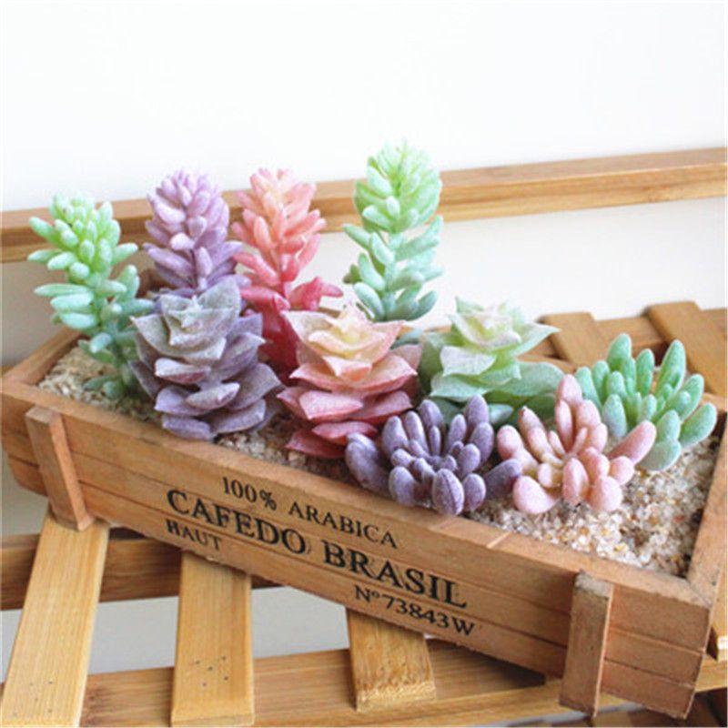 Simulate Succulent Plants Artificial Flowers High Quality Lovely Ornaments Home Garden Decoration Plastics Multi-color Meaty Plants