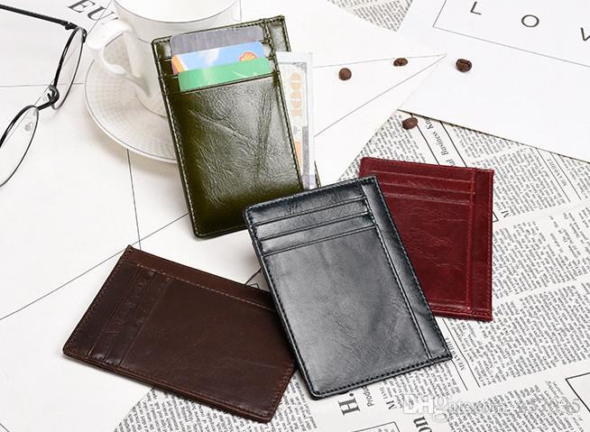 Sac de carte de permis de conduire homme en cuir rétro petit porte-monnaie carte de crédit ultra-mince ensemble de marketing direct des femmes