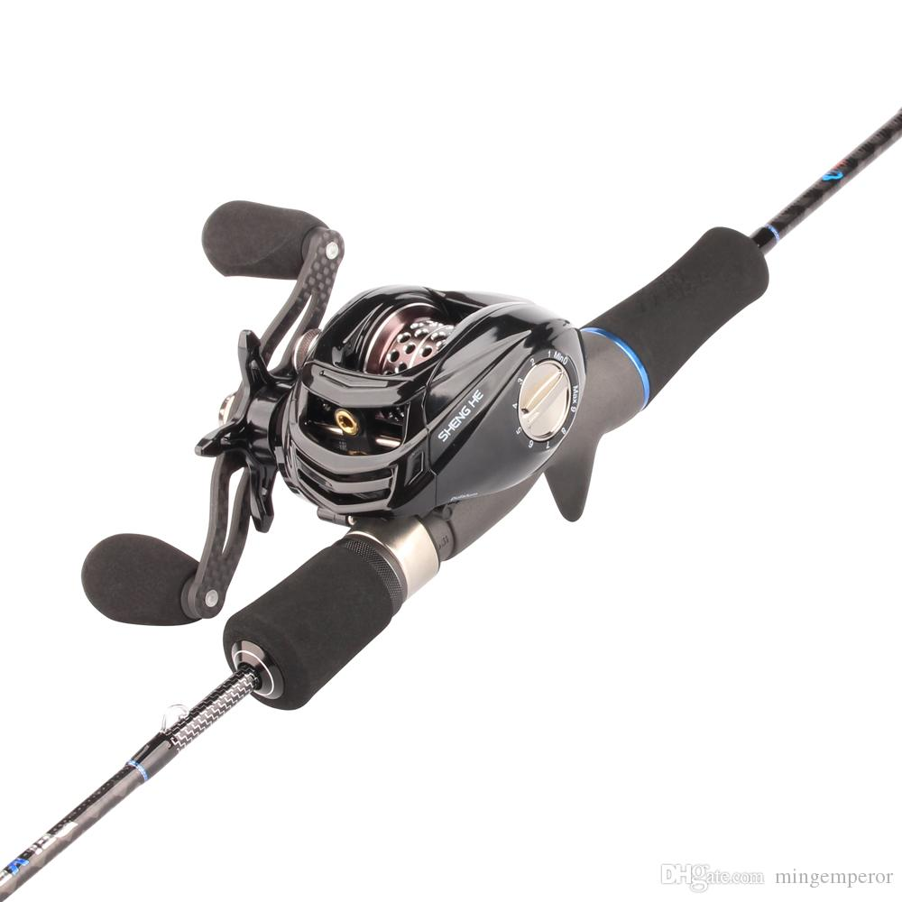 RoseWood Lure Fishing Rod Reel Combo 1.8m Fuji Trout Rod And Left/Right Hand BaitCasting Reel Set With Canvas Travel Case