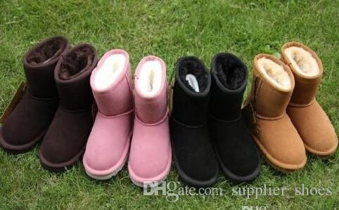 Горячие продать бренд Детская обувь девушки сапоги зима теплая лодыжки малыша мальчиков сапоги обувь дети снегоступы детская плюшевые теплая обувь