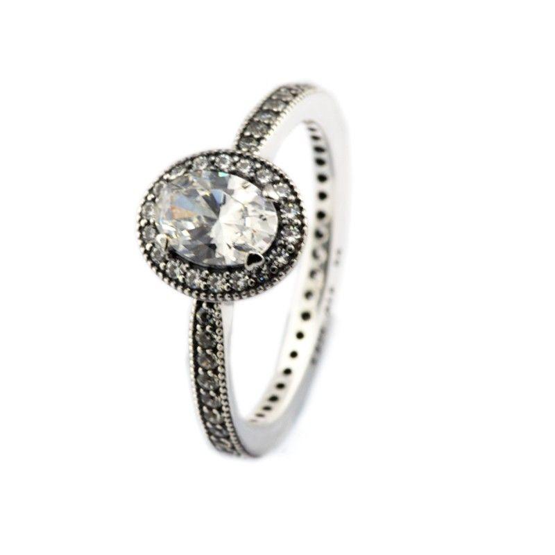 Compatibile con anello gioielli Pandora argento Vintage Elegance Zircon anelli 100% 925 gioielli in argento sterling all'ingrosso fai da te per le donne