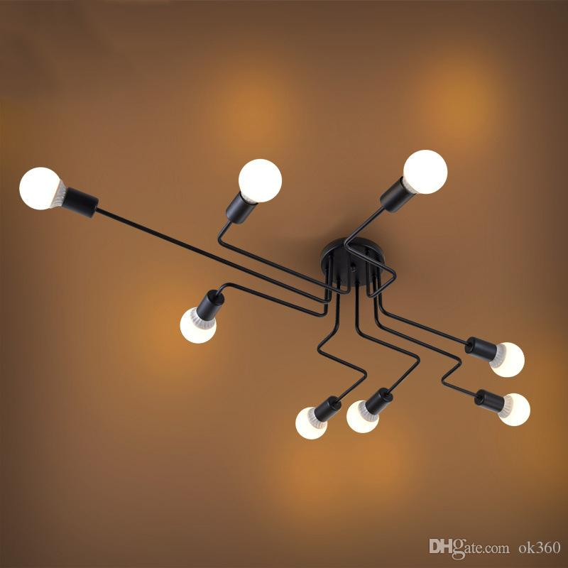 Luzes do pendente do vintage Art Cozinha quarto Sala de Jantar industrial Americano vila Lâmpada Pendurada para bar café Luminária de Ferro