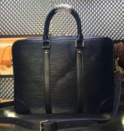 Классический EPI воды рябь черный натуральная кожа сумки портфель мужские бизнес-сумки фирменный дизайн EXPLORER бизнес сумка