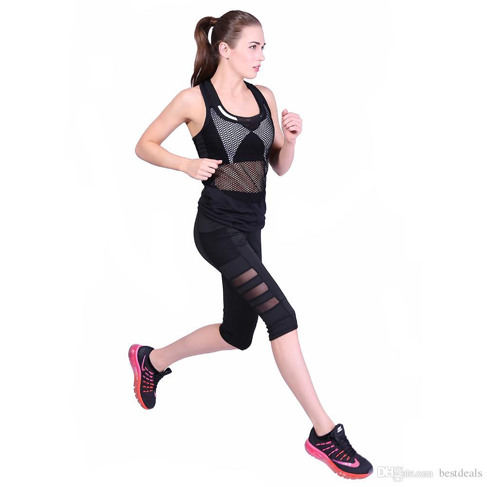 Polainas de mujer Negro Milk Clzas deportivas mujer Capri longitud de la rodilla Leggins de verano Ropa deportiva para Fitness Mujer Push Up Pantalones FS5786