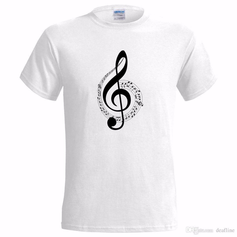 Musical Note Design Mens T Shirt Music Musician Band Rock Pop Artist Songwriterband Logo Tee Shirt For Men The Coolest T Shirts T Shirt Shirt Designs