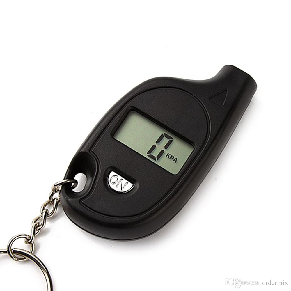VT708 Auto Motorcycle Tyre Pressure Digital Meter Tester Tire Pressure Gauge Mini Diagnostic Tool Keychain Car Detector LCD Display