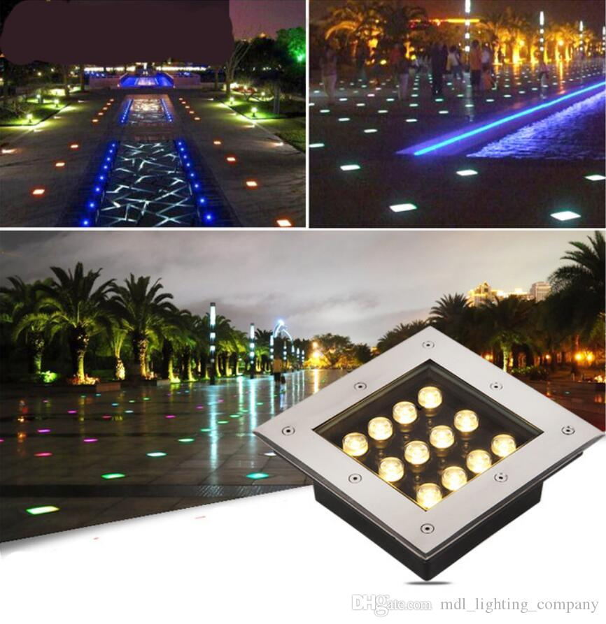 18W LED Garden Yard Underground Buried Lamp Walkway Landscape White Light