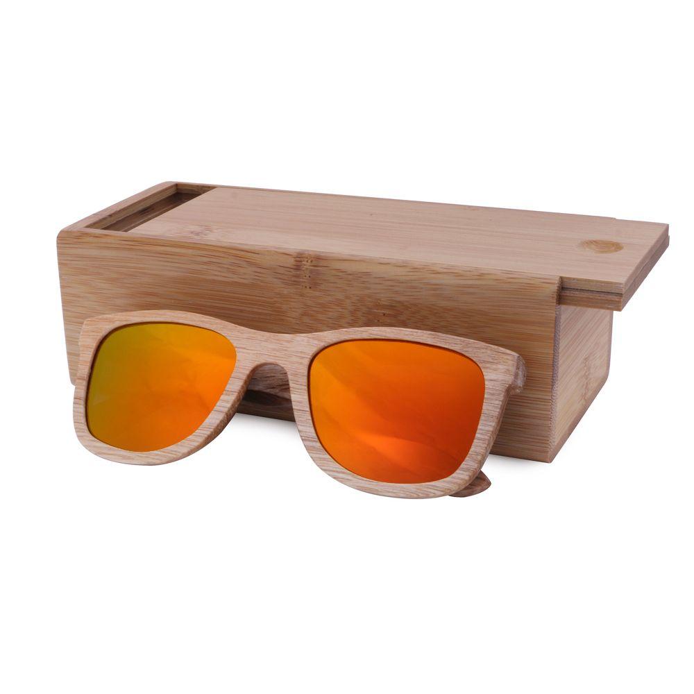 Trä solglasögon män bambu solglasögon kvinnor märke design sportglasögon guld spegel solglasögon nyanser lunette oculo