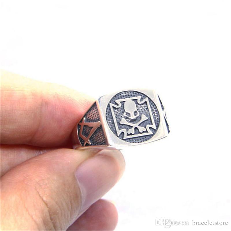 Frete grátis Tamanho 6-10 Lady Meninas 925 Sterling Silver Ring Jewelry mais novo S925 Partido Banda Crânio Anel Osso