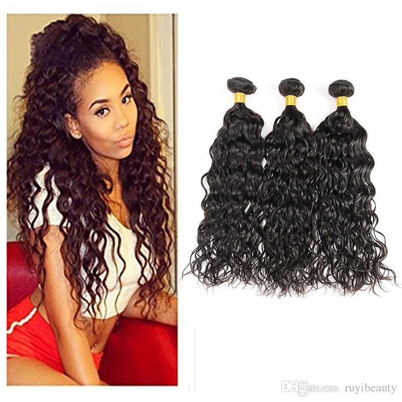 Перуанские выдвижения человеческих волос 3 пачки девственницы волос высокой 9a двойные утки 8-28inch утки волос Продукты
