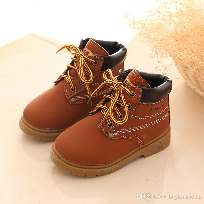 Winter Children kids leather Martin Boot Snow Baby Shoes Toddler Boys Girls Boot