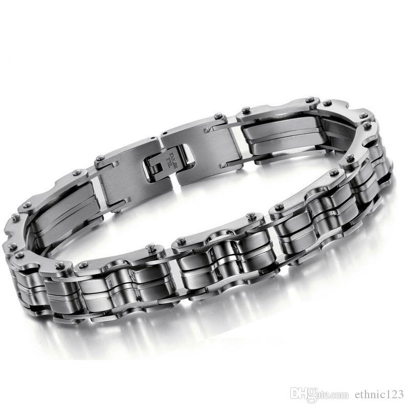 Серебряный цвет мода простой мужской браслет из нержавеющей стали браслет ремешок для часов подарок ювелирных изделий для мальчиков мужчин 629