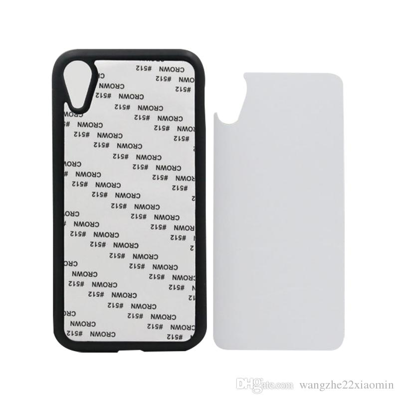 White Transparent Black 2D Sublimation Case Cover for iPhone X XS XS MAX XR DIY Blank Heat Transfer Phone Cover with Aluminum Plate
