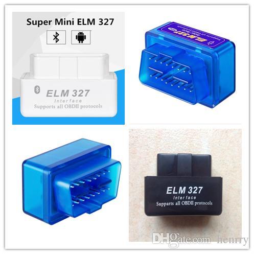 السوبر ميني ELM327 بلوتوث OBD2 V2.1 للكشف عن السيارات نموا أداة المسح الضوئي اللاسلكي الدردار 327 BT OBDII رمز التشخيص